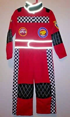 Boys Size 5 5T Red Race Car Driver Speed Team Halloween Costume
