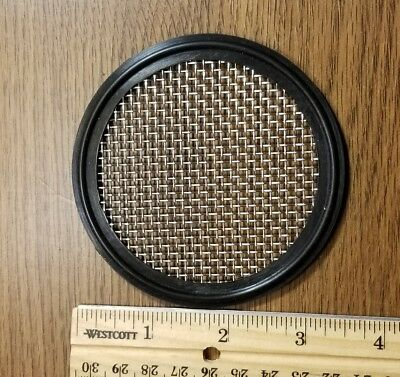 """Sanitary 3"""" Tri Clamp Clover Screened Mesh  Gasket A3 Dairy Beer New Buna"""