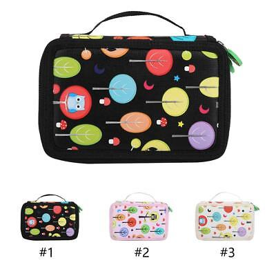 3 Layers 52 Slots Pen Box Makeup Pencil Bag Case Pouch Arts Crafts Storage Case