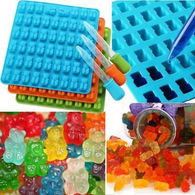 53 Cavity Silicone Gummy Bear Mold Candy Chocolate Jelly Ice Molds Moulds