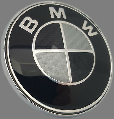 original bmw emblem motorhaube hecklappe plakette 82mm 1er. Black Bedroom Furniture Sets. Home Design Ideas