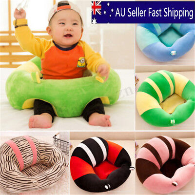 Cotton Baby Support Seat Soft Chair Cushion Sofa Plush Pillow Toys AU 13 Colors