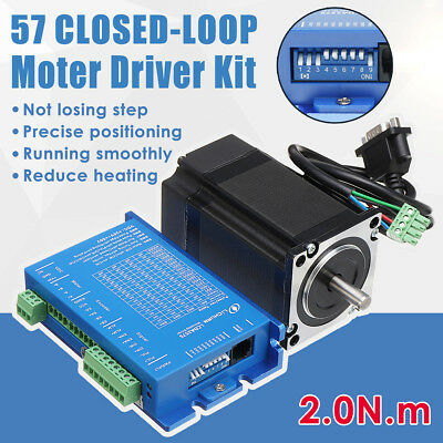 2 Phase Hybrid NEMA34 57 Closed-loop Stepper Motor Servo Driver Driver Kit 2N.M