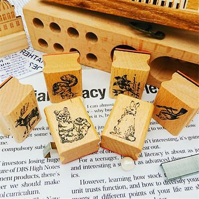 Craft Stamp Diary Stamps Print Stamp Stationery Album Wooden School Supplies