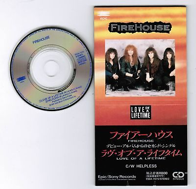 "FIREHOUSE Love of a Lifetime c/w Helpless JAPAN 3"" CD SINGLE ESDA7075 Unsnapped"