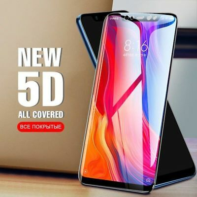 For Xiaomi Pocophone F1 5D Full Tempered Glass Protective Screen Protector Black