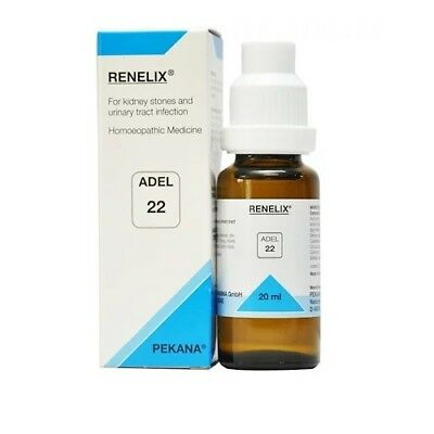 ADEL 22 Homoeopathic Renelix Drop For Urinary Tract Problems 20ml + Free Ship