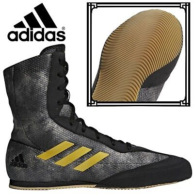 Adidas Box Hog Plus Mens & Boys Boxing Boots Black Urban Retro High Top Trainers