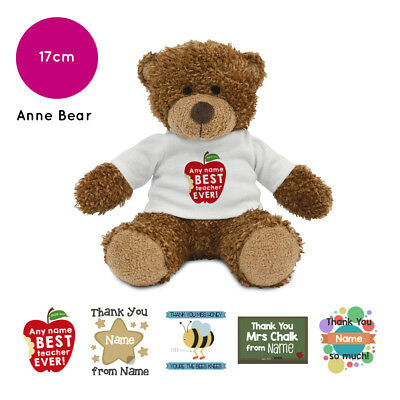 Personalised Name Thank You Anne Teddy Bear Gift Ideas Gifts for Teachers Helper