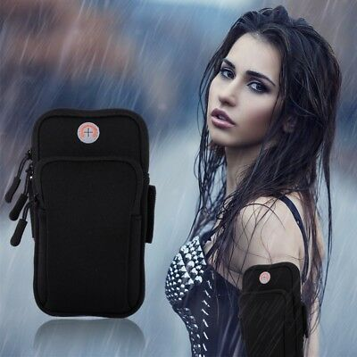 Running Bag Armband Unisex Waterproof Shockproof Universal Phone Pouch Holder US