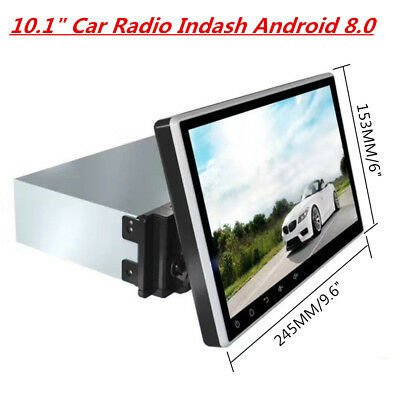 """10.1"""" Car Radio Indash Android 8.0 1DIN GPS Navigation Touch Screen Octa Core"""