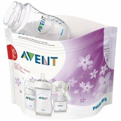 Philips Avent Microwavable Steam Bottle Baby Item Steriliser Bags Pack Of 5