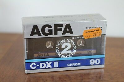 2 Cassettes Tape Neuve Sealed AGFA C-DX II 90 Made in Germany