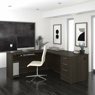 Bestar Embassy L Shaped Computer Desk With Filing