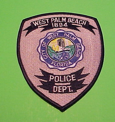 West Palm Beach  Florida  1894  Fl  Police Patch   Free Shipping!!!