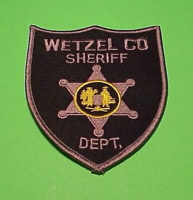 Wetzel County  West Virginia  ( Silver Border )  Sheriff / Police Patch