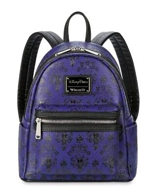 Disney Parks Haunted Mansion Exclusive Mini Backpack Loungefly Purple New