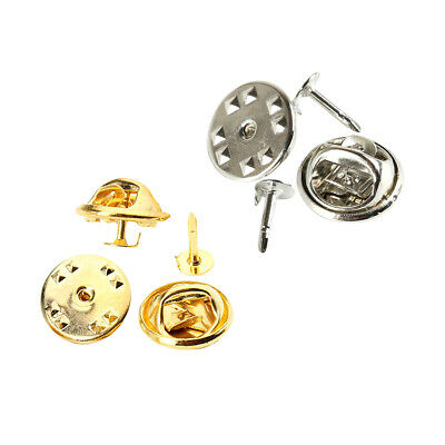 100x Butterfly Clutch Tie Tack Blank Pins with Clutch Back Gold And Platinum