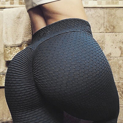 Women PUSH UP Yoga Leggings Pants Fitness High Waist Sport Jeggings Gym Trousers