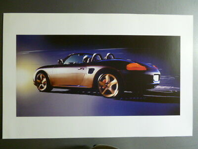 2001 Porsche Boxster Roadster Design Showroom Advertising Poster RARE!! Awesome
