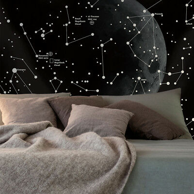 Moon Constellations Tapestry Home Art Wall Hanging Individuality Beach Blanket