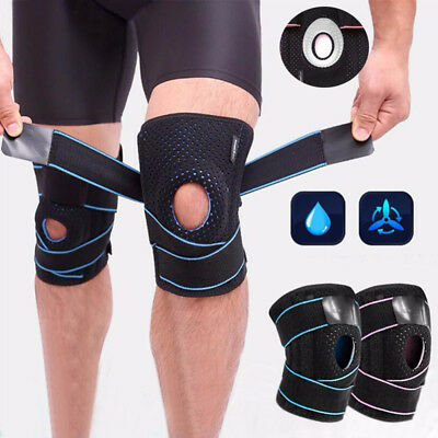 Breathble Knee Support Open Patella Brace Injury Pain Relief Straps Wraps Sports
