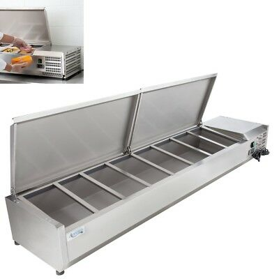 Countertop Refrigerated Prep Rail Station 40 48