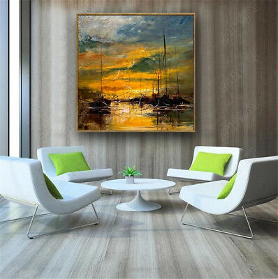 YA717 Modern Wall Decoration art Hand-painted Scenery oil painting No Frame 24in