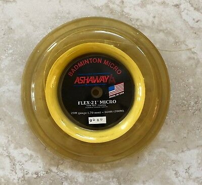 NEW! Ashaway Badminton Micro String 21M gauge 660 feet Flex-21 Reel