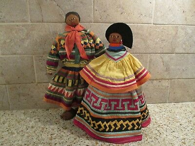 Old Seminole Indian Patchwork Dolls - Male & Female - Family Owned - Quality