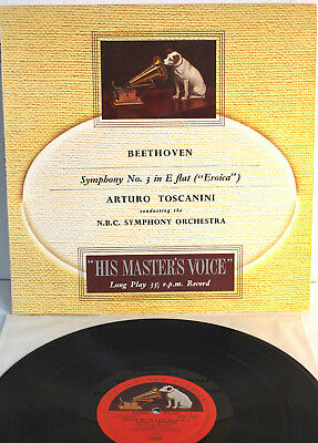 Toscanini/Beethoven,Symphony No.3 Eroica, HIS MASTERS VOICE, ALP 1008, M-