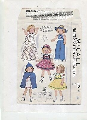 Vintage -1937- 18 In.-Adorable -Shirley Temple Etc.- Wardrobe  Pattern -#2
