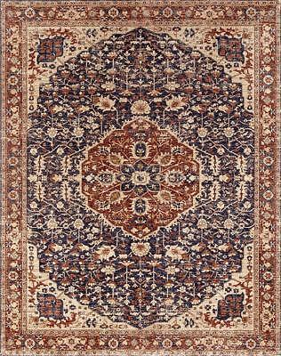 ~ Vintage Distressed Persian Loom Woven Area Rug Renaissance Runner 5 x 7 NEW