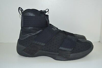 daa82f85113d buy nike lebron soldier 10 x triple black nike 844374 001 mens basketball  size 11 a2a05