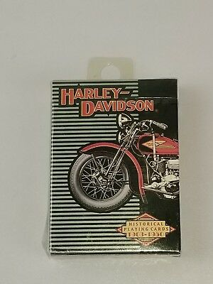 Harley Davidson Historical Playing Cards -1903-1950 - New in Red Box