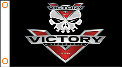 VICTORY MOTORCYCLE 3' x 5' FLAG/BANNER-FREE SHIPPING-VEGAS 8 BALL HAMMER-OCTANE