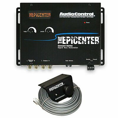 AudioControl The Epicenter Black Digital Bass Enhancer Restoration Processor