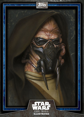 Topps Star Wars Card Trader Illustrated Series 6 Blue Plo Koon CTI