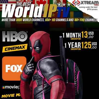 IPTV WORLD'S BEST IP TV Service more than 4000+ Channels HD