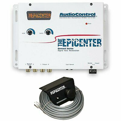 Audiocontrol The Epicenter Car Audio Digital Bass Restoration Equalizer White