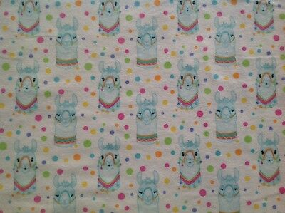 ~ FLANNEL ~ Fox~Childrens~Quilting~Fabric~Flannelette~Mint Green Foxes~Baby~FQ