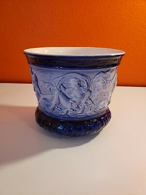 Crownford china Old Flow blue Sylvac pot