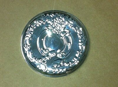 Wallace Sterling Silver Dresser/Purse Mirror ~ Grand Baroque Pattern