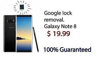 Remote Google Account Removal/Reset FRP For SAMSUNG note 8 all  sistem