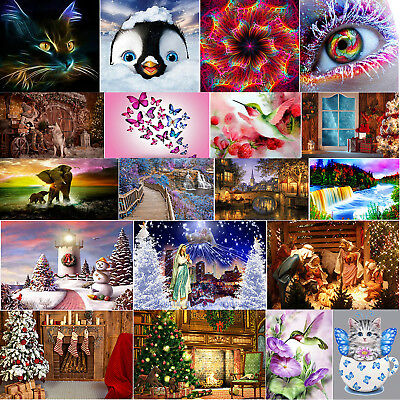 Full Drill 5D DIY Diamond Painting Embroidery Cross Xmas Wall Decor+Drawing Tool