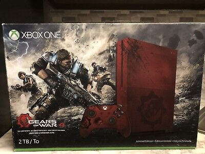 Gears of War 4 (Microsoft Xbox One, 2016)limited Edition Red.