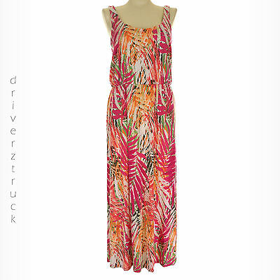 378f75c244 SONOMA Women s SMALL TROPICAL Palm Leaf Print MULTI-COLOR MAXI DRESS  Sleeveless