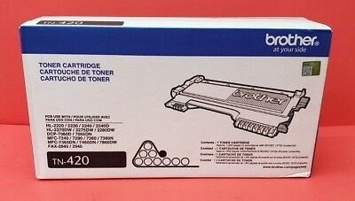 Genuine Brother TN420 Black Toner Cartridge HL DCP MFC FAX NIB TN-420