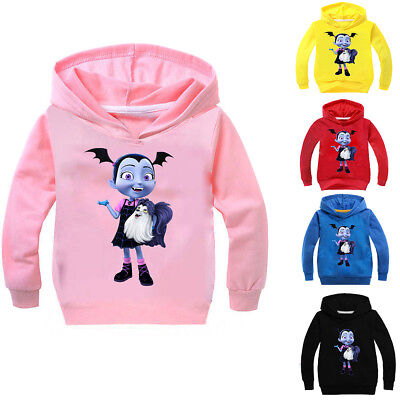 Girls Kids Vampirina Cartoon Sweatshirt Hoodie Pullover Spring Fall Clothing