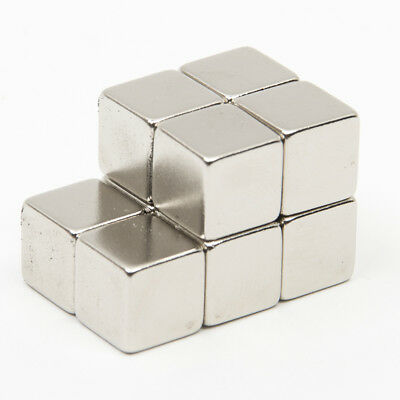 10PCS 10x10x10mm Cube Neodymium Rare Earth Magnets N52 Strong Block Experiment